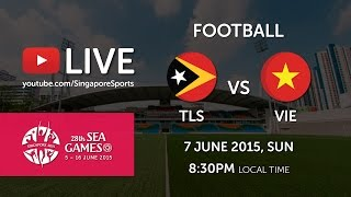 Football Timor Leste vs Vietnam on Day 2 of 28th SEA Games Singapore 2015 (7 June 2015) at Bishan Stadium Subscribe to...