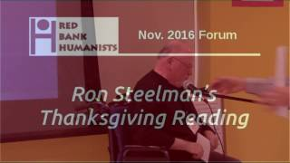 Ron Steelman's Thanksgiving Reading for 2016