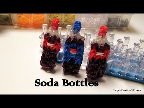 Coca Cola Soda Bottle Charm – How to Rainbow Loom -Food Series