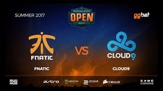 fnatic vs Cloud9 - DREAMHACK Open Summer - de_mirage [MintGod, CrystalMay]