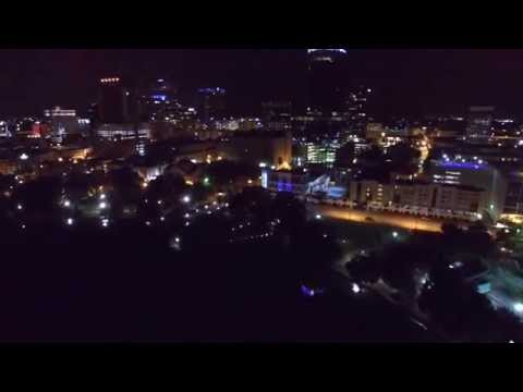 Phantom 3 - Night Flying around Lake Eola, Orlando Florida