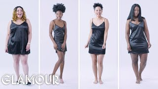 Women Sizes Small Through 3X Try on the Same Slip Dress (Fenty) | Glamour