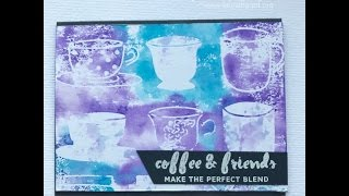 Watercolored Coffee Cups: Stamping with Stencils