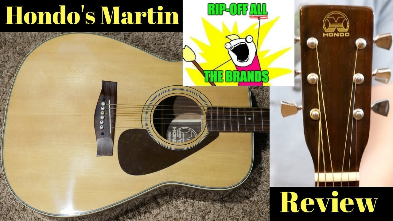 "Rip-Off ALL the Companies! Hondo's ""Martin D-18"" H158 Acoustic Guitar Review + Demo"