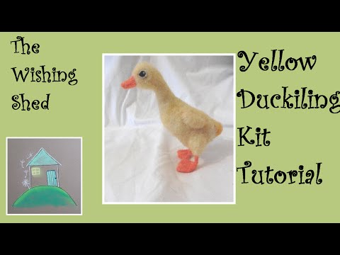 Yellow Duckling Needle Felt Kit Tutorial - The Wishing Shed