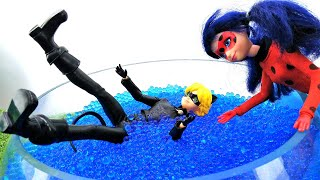 Baby Barbie Doll and Marinette in a Dolphin Park.