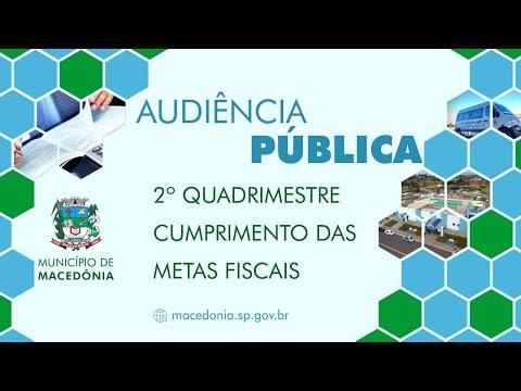 Audiência Pública - 2º Quadrimestre de 2020 - Demonstração e Avaliação das Metas Fiscais