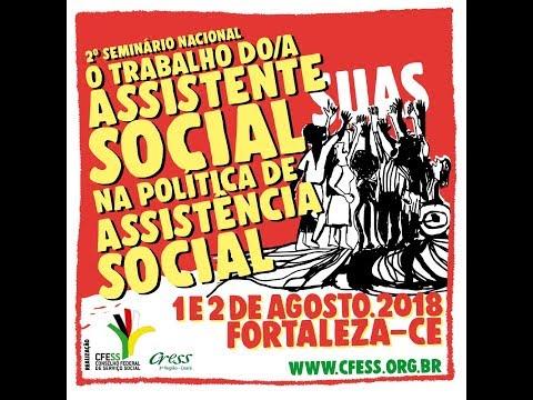 2º Seminário Nacional sobre o trabalho do/a Assistente Social na Política de Assistência Social - 1º dia