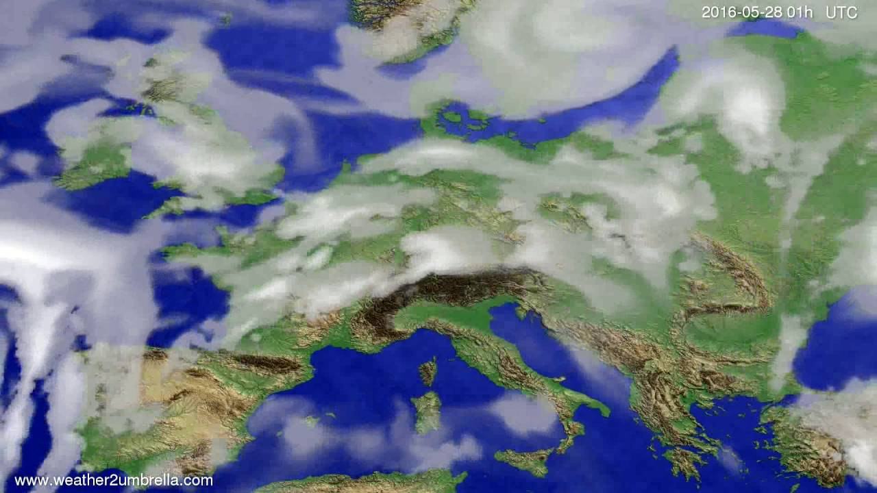 Cloud forecast Europe 2016-05-25