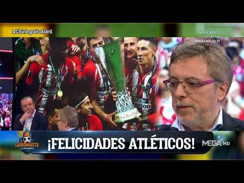 La emoción de Damián en 'El Chiringuito' tras la Europa League del Atleti