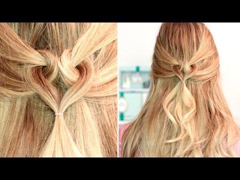 heart hairstyle for medium long hair tutorial frisuren f r. Black Bedroom Furniture Sets. Home Design Ideas