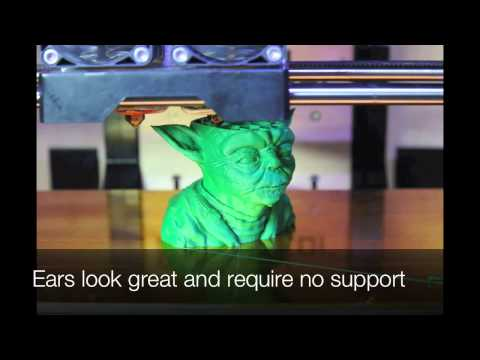 Print - Time lapse photography of a 3D print on a Makerbot Replicator. This is my first print at .1mm layer height. There is a significant increase in detail compare...