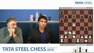 GM Wesley So analyzes game vs GM Baadur Jobava - Tata Steel Chess Tournament 2015