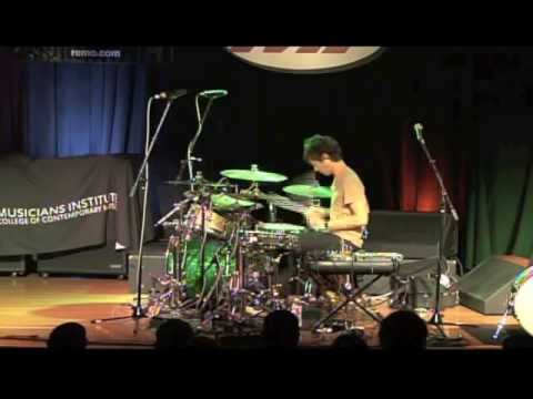 Brendan Buckley drum seminar at Musicians Institute 2012 (solo)