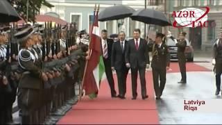 Azərbaycan Prezidenti İlham Əliyevin Riqada rəsmi qarşılanma mərasimi olub.