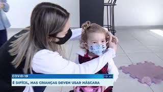 Crianças devem usar máscara para prevenção contra a Covid-19