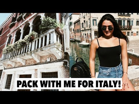 PACK WITH ME FOR ITALY  Venice, Florence & Rome