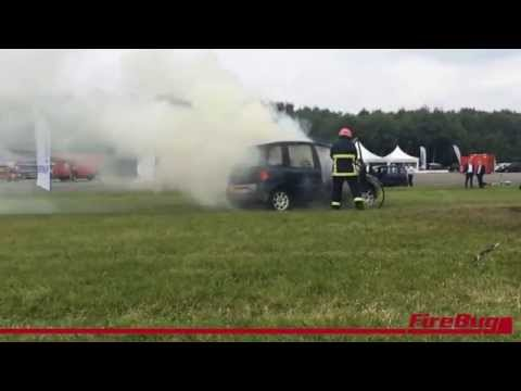Car fire extinguished with MistNozzle & only 60 litres of water!