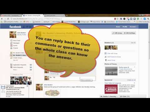 Facebook for Your Classroom in 7 Minutes