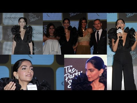 Sonam Kapoor At Chandon's Party Starter Song With Singer Anushka