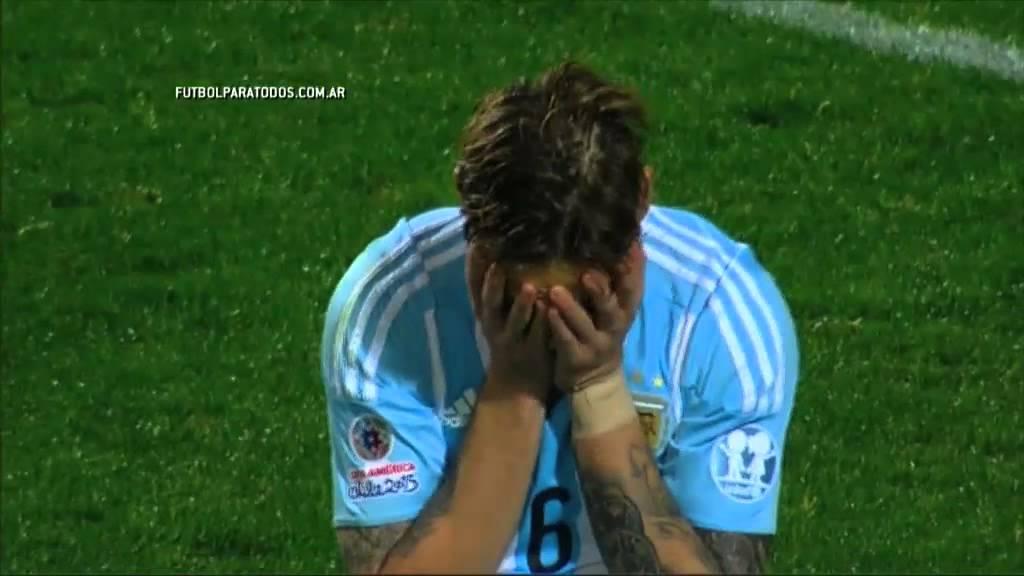 La definición por penales. Argentina 0 (5) – Colombia 0 (4). Cuartos. Copa América 2015. FPT.
