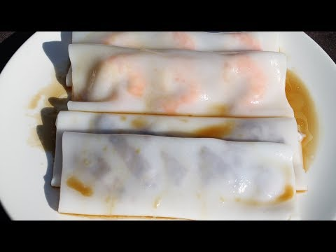 Crêpes Chinoises - 肠粉 - Cheung Fun - Cooking With Morgane