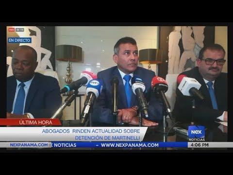 Abogados rinde actualización sobre detención de Ricardo Martinelli