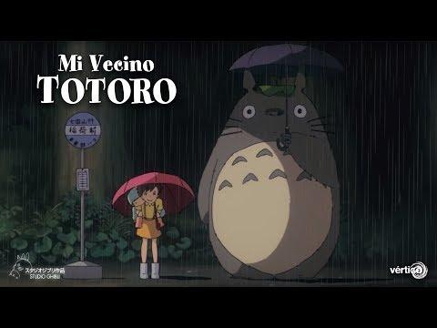 """Mi vecino Totoro - Clip Subtitulado """"Paraguas""""?>"""