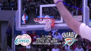 MATCH-UP VIDEO: THE LOS ANGELES CLIPPERS VS. OKLAHOMA CITY THUNDER