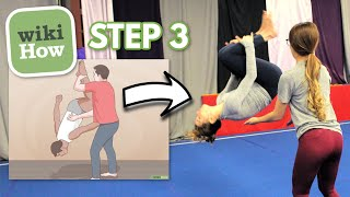 Trying Gymnastics Tutorials from WikiHow