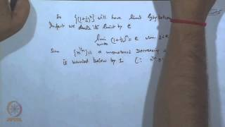 Mod-14 Lec-16 Some Important Limits, Ratio Tests For Sequences Of Real Numbers