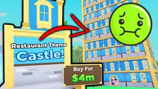 Buying The 4 MILLION DOLLAR Castle & Restaurant Design Tour | Roblox MY RESTAURANT!