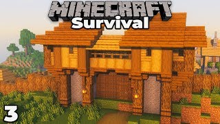 Building with fWhip S2 : Village Gate House #3 Minecraft 1.14 Survival Let's Play