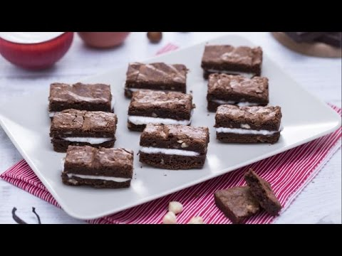 Chocolate brownie sandwiches - recipe