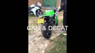 9. 2015 KAWASAKI ZX10R 30th ANNIVERSARY EDITION WITH AKRAPOVIC CAN AND DECAT