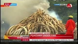 Dr. Richard Leakey-KWS Chair addresses the nation at the Ivory Burning site in Nairobi