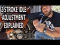 How To Adjust Idle On 2 Stroke Dirt Bike  Air Screw Adjustment 2 Stroke