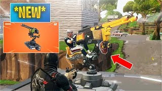 *NEW* Mounted Turret Gameplay! [Insane] (Fortnite)
