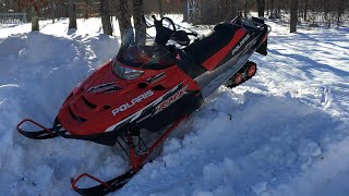 2. Polaris RMK trail 550 messing around