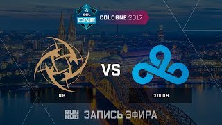 NiP vs Cloud9 - ESL One Cologne 2017 - map2 - de_cache [ceh9, yXo]