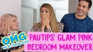 Paula Galindo aka PauTips' Glam Pink Bedroom Makeover! | OMG We're Coming Over