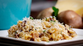 One-Pot Bacon Mushroom Risotto by Tasty