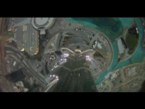0 Base Jump from Burj Khalifa   Worlds Tallest Building