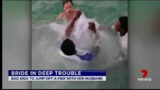 Seven News reports old news about bridal stunt mishap.