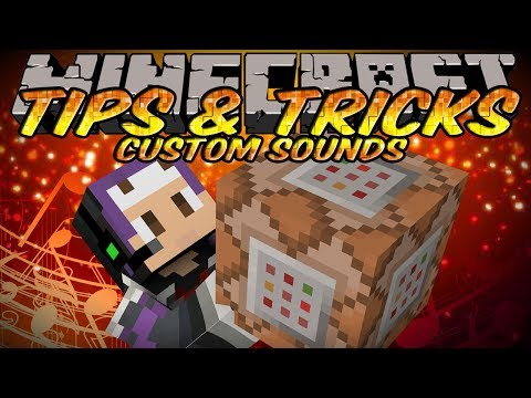 Minecraft Tips And Tricks – Custom Sounds with Resource Packs & Command Blocks!