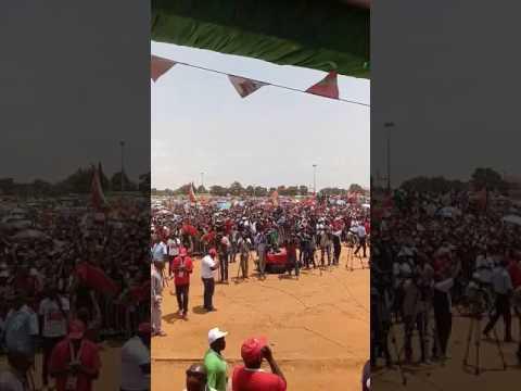 Imagens vídeo, não editadas, da Concentração da UNITA em Viana.