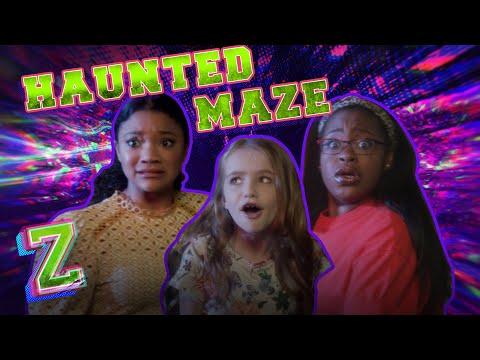 Kylee, Carla & Kingston Take on the Haunted Maze Challenge!💀| ZOMBIES 2 | Disney Channel