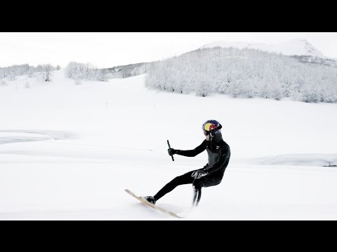 Winter Wakeskating