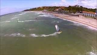 A day with the wind on the low side, but the good weather attracted many of the water. The windsurf ikon Morten Vigholt in the start...