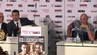 Tyson Fury launches astonishing press conference rant at Wladimir Klitschko